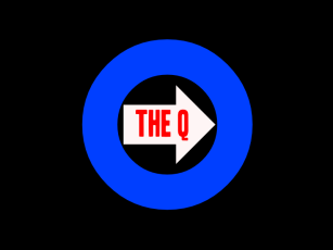 The Q black arrow logo